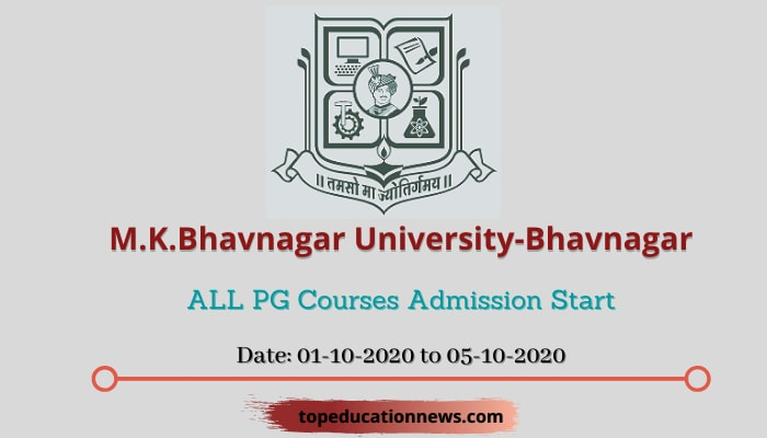 M.K.Bhavnagar University Pg Admission