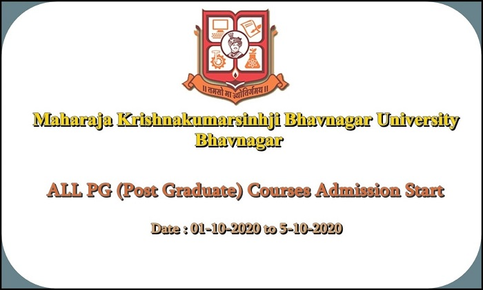 Bhavnagar University Admission Start ALL PG Courses