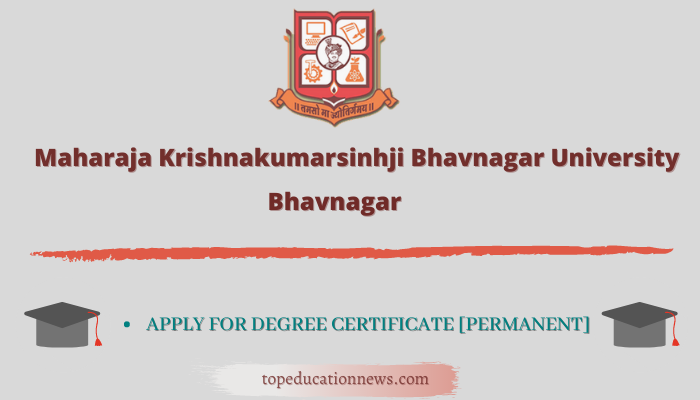 M.K.Bhavnagar University Degree Registration