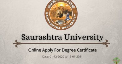 Saurashtra University Degree Certificate