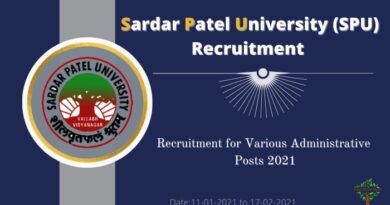 Sardar Patel University (SPU) Recruitment