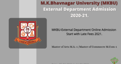 Bhavnagar University External Admission